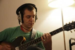 Greg sanders recording at Studio123, Shoreditch